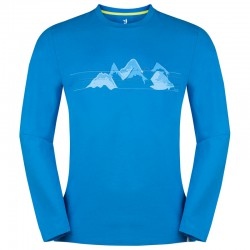ZAJO Bormio T-Shirt LS ibiza blue nature mountains