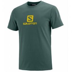 triko SALOMON Coton Logo SS Tee M green gables