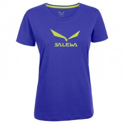 triko SALEWA Solidlogo CO W S/S Tee spectrum blue