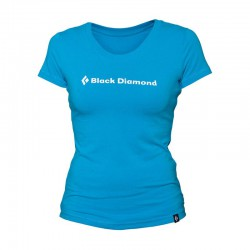 triko BLACK DIAMOND ID Tee Women´s Vivid Blue