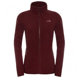 bunda THE NORTH FACE W 100 Glacier Full Zip deep garnet