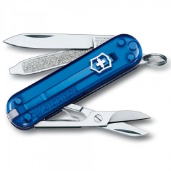 nůž VICTORINOX Classic SD Transparent blue