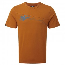 triko MOUNTAIN EQUIPMENT Roof Crack Tee pumpkin spice