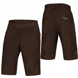 kraťasy OCÚN Mánia Shorts brown/yellow