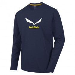 triko SALEWA Solidlogo 2 CO M L/S night black